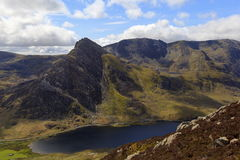 The triangular peak of Tryfan Royalty Free Stock Images