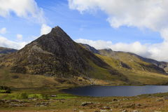 The triangular peak of Tryfan Stock Photography