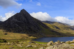 The triangular peak of Tryfan Royalty Free Stock Photography
