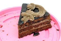 Triangular piece of cake Royalty Free Stock Photos