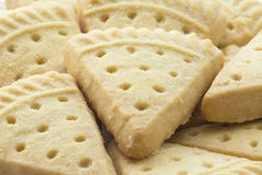 Triangular Pieces of Shortbread. Stock Photography