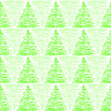 Triangular pine trees forest seamless background Stock Images