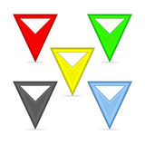 Triangular pointers Stock Photography