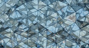 Triangular glass polygonal shape 3D rendering Stock Photography