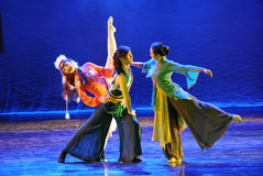The triangular relationship-The dance drama The legend of the Condor Heroes Stock Images