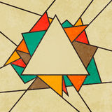 Triangular retro abstract background vector Stock Images
