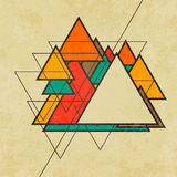 Triangular retro abstract background vector Royalty Free Stock Photos