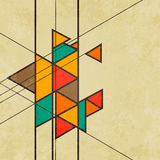 Triangular retro abstract background vector Royalty Free Stock Photo