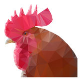 Triangular rooster Royalty Free Stock Photography