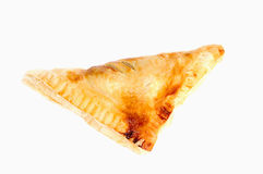 Triangular sandwich or pie isolated on white background. Triangular sandwich or pie isolated on white stock photo
