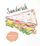 Triangular sandwich Stock Photo