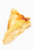 Triangular sandwich on white background. Triangular sandwich on isolate white background stock image