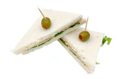 Triangular sandwiches Royalty Free Stock Photo