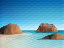 Triangular Scene Background Royalty Free Stock Image