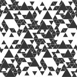 Triangular seamless vector pattern. Abstract black triangles on white background Royalty Free Stock Image