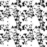 Triangular seamless vector pattern. Abstract black triangles on white background Stock Image