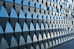 Triangular shaped wall design Royalty Free Stock Photo