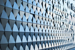 Triangular shaped wall design Stock Images