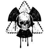 Triangular skull radiation Royalty Free Stock Image