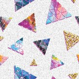 Triangular space design. Abstract ornament. Royalty Free Stock Photo