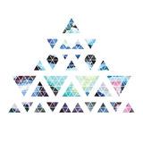 Triangular space design. Abstract watercolor ornament. Stock Photos