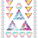 Triangular space design. Abstract watercolor ornament. Royalty Free Stock Photos