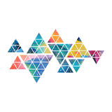 Triangular space design. Abstract watercolor ornament. Stock Images