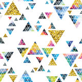 Triangular space design. Abstract watercolor ornament. Stock Photography