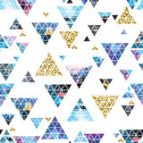 Triangular space design. Abstract watercolor ornament. Royalty Free Stock Photography