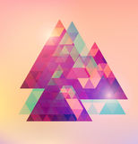 Triangular space design. Royalty Free Stock Photos