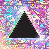 Triangular space design. Vector triangle. Template. This is file of EPS10 format Stock Photo