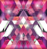 Triangular space design. Royalty Free Stock Images