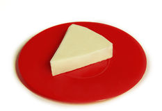 Triangular Spread Cheese. A Portion of Triangular Spread Cheese Royalty Free Stock Photo