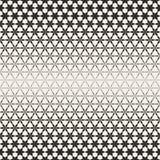Triangular Star Shapes Halftone Lattice. Vector Seamless Black and White Pattern. Royalty Free Stock Photo