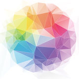 Triangular art style abstract background Stock Photos