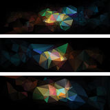 Triangular style abstract creative background Stock Images