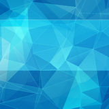 Triangular style blue abstract background Stock Photo