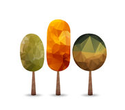 Triangular style tree, Autumn background Royalty Free Stock Photography