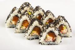 Triangular sushi with sesame seeds Royalty Free Stock Photos