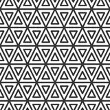 Triangular tile. Geometric seamless pattern. Triangular tile. Geometric seamless pattern in line style. Vector illustration for minimalistic design. Abstract Stock Images