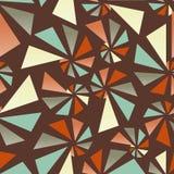 Triangular torsion seamless pattern Royalty Free Stock Image