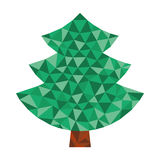 Triangular tree Royalty Free Stock Image