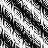 Triangular Tribal Pattern b&w vector illustration