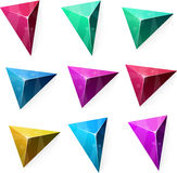 Triangular vibrant pyramid. Stock Images