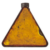 Triangular vintage fuel can isolated on white Stock Photography