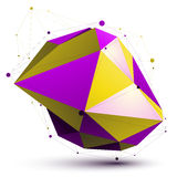 Triangular vivid abstract 3D illustration, colorful vector digit Royalty Free Stock Photo