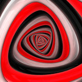 Triangular vortex. Of black, white, red colors Royalty Free Stock Image