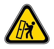 Triangular Warning Hazard Symbol Stock Photography