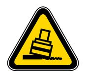 Triangular Warning Hazard Symbol Stock Images