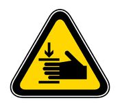 Triangular Warning Hazard Symbol Royalty Free Stock Photos